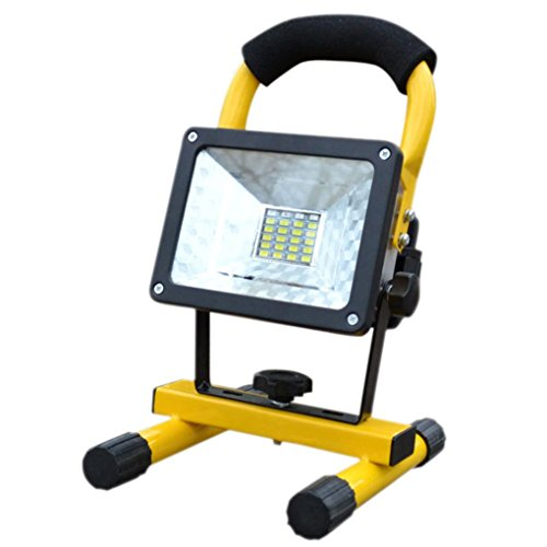 Led Flood Light, Napoo Portable 30W 24 LED Waterproof Rechargeable Worklight Spot Work Lamp Emergency Light For Outdoor Camping, Working, Fishing by Napoo