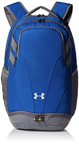 Under Armour Team Hustle 3.0 Backpack, Royal (400)/Gray, One Size Fits All