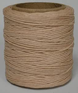 """Maine Thread -.035"""" Natural Waxed Polycord. 210 feet each. Includes 2 spools."""