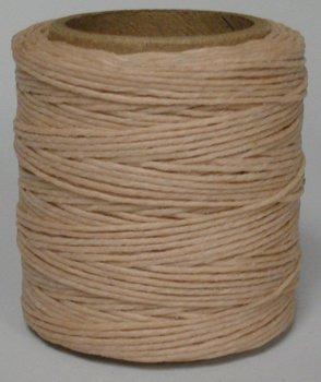 .030 Natural Waxed Polycord Maine Thread Includes 2 spools. 210 feet each