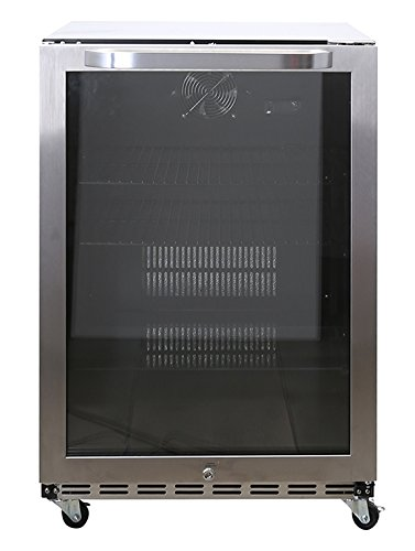 - Avanti COR51Z3SGN 5.1 CF Outdoor Refrigerator & Beverage Cooler With Glass Door, Stainless Steel