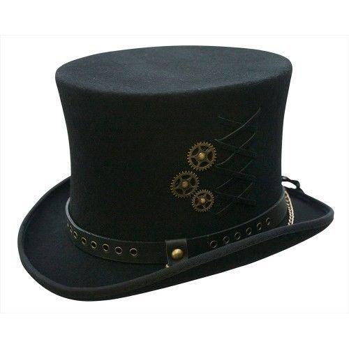 Conner Hats Men's SteamPunk Top Hat C1057