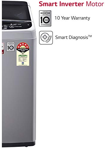 LG 6.5 Kg 5 Star Smart Inverter Fully-Automatic Top Loading Washing Machine (T65SNSF1Z, Middle Free Silver, TurboDrum) 2021 June Fully-automatic Top load washing machine: Best Wash Quality, Energy and Water efficient Capacity 6.5 Kg: Suitable for families with 3 to 4 members Energy rating 5: Best in class efficiency
