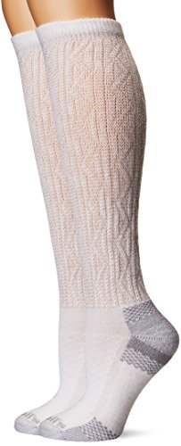 Dr. Scholl's Women's Advanced Relief Diabetic & Circulatory Knee High Socks, White, Shoe Size: 4-10
