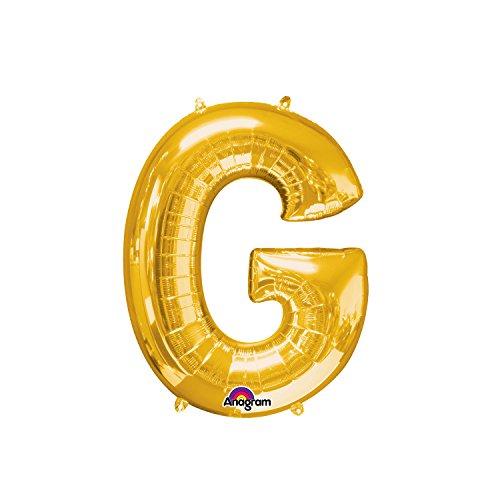 Regina 106475.4, Balão Metalizado Super Shape Letra G Pack, Dourado