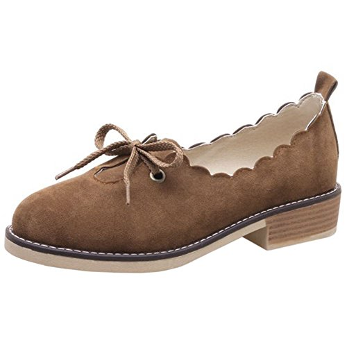 Women Casual Flat Shoes Brogue Melady Brown aZqWw1dnH