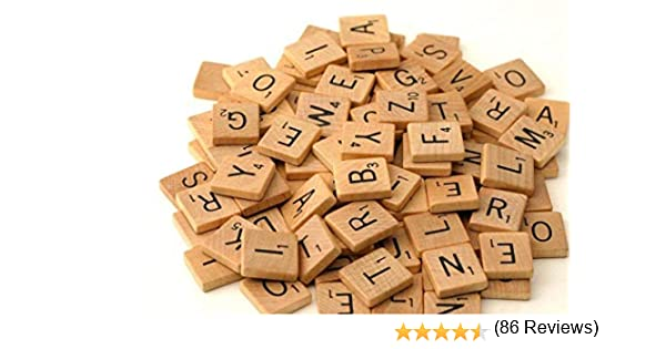 300 Wood Scrabble Tiles - NEW Scrabble Letters - Wood Pieces - 2 Complete Sets - Great for Crafts, Pendants, Spelling by Fuhaieec(TM): Amazon.es: Juguetes y juegos