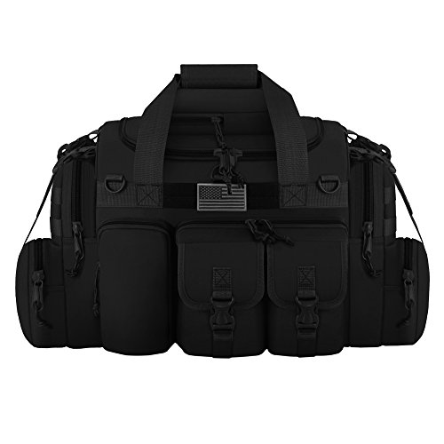 East West U.S.A Tactical Outdoor Multi Pockets Heavy Duty 26 Duffel Bag, Outdoor Sports Bag Black Color