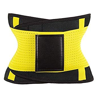 06ba12aa6d Weight Loss Body Shaper Women Plus Size Waist Trainer Cincher Sweat Corset  Sauna Girdle Slimming Belt Tummy Shaper Hot Shapers Color Yellow Size M  ...