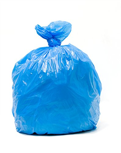 TLD CRB-3339, 33 Gallon, 1.2 Mil, 200 Count, Unprinted, 33x39 Inches, Blue Tint Recycling and Soiled Linen Hospital Liner Bags, MADE IN USA
