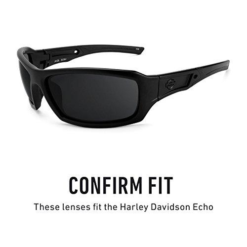 Verres de rechange pour Harley Davidson Echo — Plusieurs options Polarisés Elite Titanium MirrorShield®