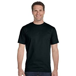 Hanes 5.2 oz. ComfortSoft Cotton T-Shirt (5280) Pack of 5-BLACK