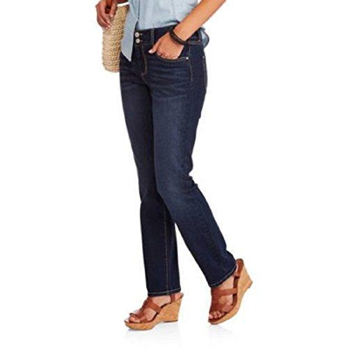 Beau Dawson Women's Performance Stretch Double Button Skinny Jean, Dark, 10
