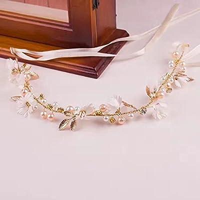 KPHY-Mariage D'Accessoires Simples Daisy Crystal Twist De Perles De Main Ruban Hoop