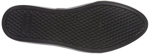 Bronx BmecX 65353-AE - Zapatilla para mujer, nappa croco print negro - Schwarz (black / 01)