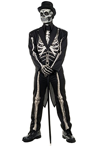 Men's Bone Chillin Skeleton Tuxedo Costume -