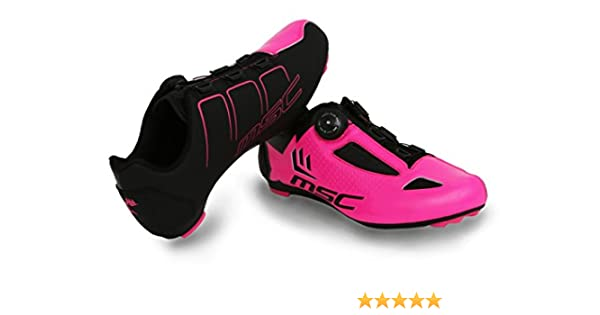 MSC Bikes Aero Road Zapatillas Ciclismo, Fucsia, T-39: Amazon.es ...