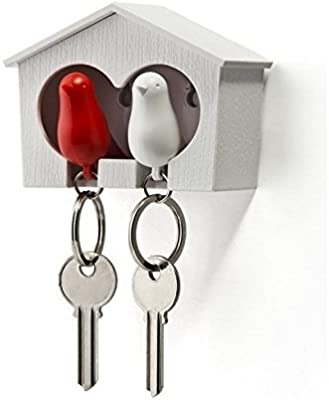 Amazon.com: Duo Sparrow Key Holder by Qualy Design. Wall ...