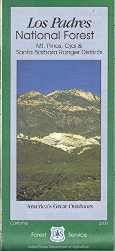 Los Padres National Forest Map - Los Padres National Forest: Mt. Pinos, Ojai & Santa Barbara Ranger Districts