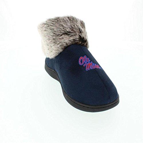 MSS14-2 - Mississippi Rebels Faux Sheepskin Furry Top Slippers - Medium