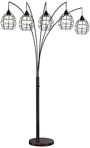 Lite Source Kaden Copper Bronze Cage 5-Light Arc Floor (Lite Source Copper Floor Lamp)