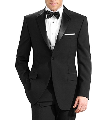 Neil Allyn 5 Pc Complete Black Tuxedo Set- Jacket, Pants, Shirt with Cummerbund and Bow Tie - Complete Tuxedo Shirt Tie Cummerbund