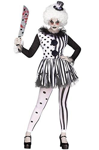 (Fun World Women's Med/lrg Killer Clown Adlt Cstm, Multi)