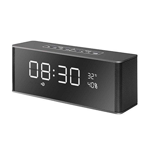 xingganglengyin Wireless Alarm Clock Smart Bluetooth Speaker with Card Subwoofer FM Multifunction Bluetooth Speaker by xingganglengyin (Image #8)