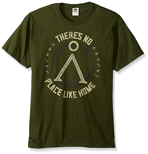 American Classics Unisex Stargate No Place Like Home Adult Short Sleeve T-Shirt, Military Green, Medium