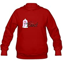 Long Sleeve Beauty And The Beast Logo Hoodies For Girls Red XL Comfortable Hoodies