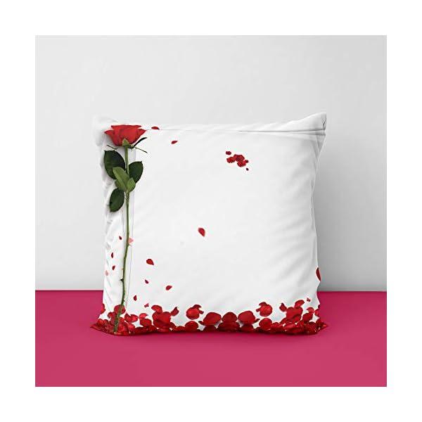 41iuSLWIDVL Rose Propose Square Design Printed Cushion Cover