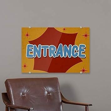 Nostalgia Burst Premium Acrylic Sign CGSignLab 5-Pack Entrance 18x12