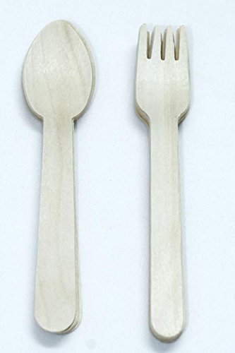 vinayaka mart combo offer Disposable Wooden Bamboo (Spoon & Fork),Bbq,Tableware, great for parties,picnics and events, size 5.5 inch length- pack of -100 (B07FF3NS7F) Amazon Price History, Amazon Price Tracker