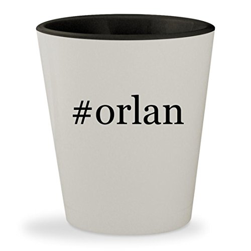 #orlan - Hashtag White Outer & Black Inner Ceramic 1.5oz Shot Glass Orlane B21 Whitening Serum