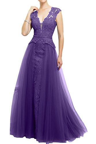 Violett Ivydressing Abendkleider Mutterkleider V Tuell Paillette Spitze Neu Damen Bodenlang Partykleider Dunkelrosa 2017 Neck OqxrzO4