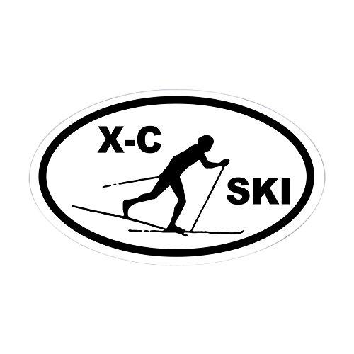 CafePress Cross Country Skier Oval Sticker Oval Bumper Sticker, Euro Oval Car Decal