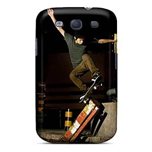 For HTC One M7 Case Cover (skateboarding)