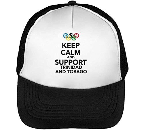 Calm Hombre Negro Beisbol Blanco Gorras Keep Trinidad Support Tobago Snapback fqSXwd1dR4