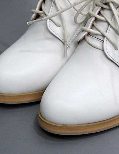nero Hug tonda con con donna Eu35 us5 Scarpe tacco lavoro Bianco elegante alla bianco Njx punta Uk3 mandorla Casual e Cn34 cinturino da Ufficio a zHdnZqP