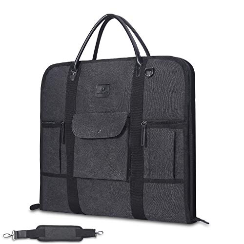 Suit Carry On Garment Bag for Travel Duffel Bag Business Trips Weekend Bag With Shoulder Strap