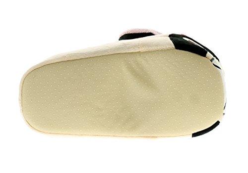 Damen Süßer Mops NEUHEIT Hausschuh, mit Plüsch Stoff für zusätzlichen Komfort - beige - UK Größen 3-8 - Beige, 38