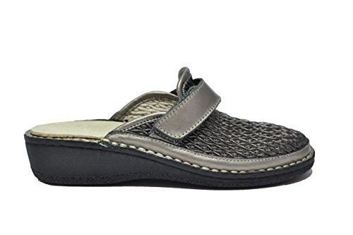 Cinzia Soft Ciabatte scarpe donna peltro PLANTARE ESTRAIBILE IM22890BV