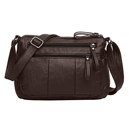 (Volcanic Rock Women Crossbody Bag Pocketbooks Soft PU Leather Purses and Handbags Multi Pocket Shoulder Bag)