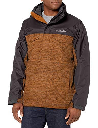 Columbia Men's Timberline Triple Interchange Jacket, Burnished Amber tech Lines, Shark, XX-Large