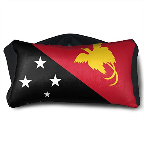 ChunLei Flag of Papua New Guinea Voyage Pillow 2 in 1 Travel Pillow and Eye Mask Portable Convertible Rest Neck Support Pillows Ergonomic Best for Airplanes, Car
