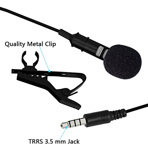 InnoGear Deluxe Lavalier Lapel Microphone Clip-on Omnidirect