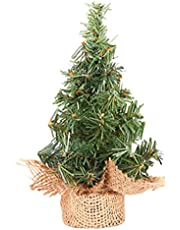 8Inch/20cm Mini Artificial Christmas Tree, Christmas Shopping Mall Pine Tree Decorations for Your Table, Desk Tops, Home or Office
