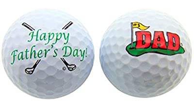 Westman Works Fathers Day Golf Ball Novelty Gift Pack for #1 Dad Golfer, Set of 2