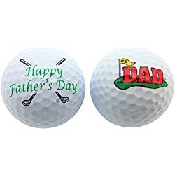 Fathers Day Golf Ball Gift Pack Set of 2 Different Balls for #1 Dad Golfer