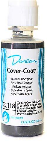 Cobalt Crystal Black 3 pcs sku# 1840084MA Duncan Cover-Coat Opaque Underglazes